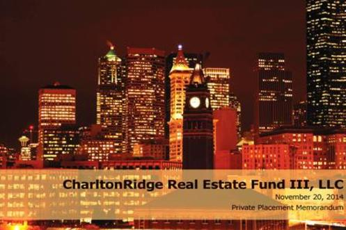 real estate investment fund ppm